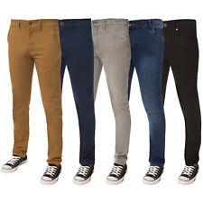 Enzo Designer Boys Kids Skinny Stretch Chinos Jeans Slim Fit Trousers Pants