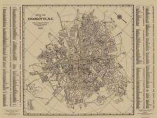 Old City Map - Charlotte, Street Guide North Carolina - 1935 - 30.5 x 23