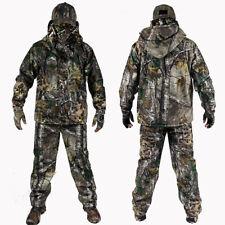Bonic Camouflage Hunting Suit 4Pcs/set Jacket +Pant +Gloves+Cap for Spring Autum
