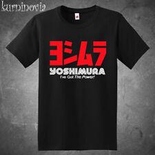 New Yoshimura Exhaust Racing Motor Sports Logo Men's Black T-Shirt Size S to 3XL