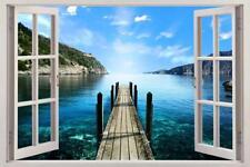 Into The Water 3D Window Decal Wall Sticker Art Mural Ocean Sea Landscape J402