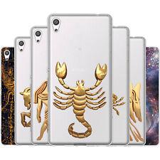 dessana Sternzeichen Astrologie Silikon Schutz Hülle Case Handy Tasche für Sony