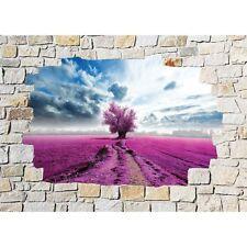 Stickers mural trompe l'oeil pierre déco Arbre 8531