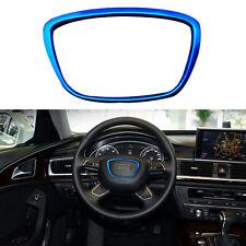 New DIY Aluminum Steering Wheel Cover Body Emblem Fit For Audi A6L 2016-17