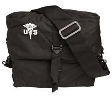 MIL-TEC US MEDICAL KIT BAG ARMY BREAD BAG CAMPING UTILITY BAG WITH STRAP BLACK