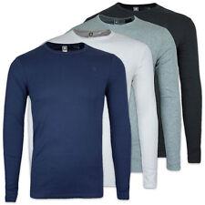 G-Star T-Shirt-Langarm Crew Neck Tee-Slim Fit-schwarz/weiß/grau/blau