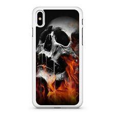 Fantastic Fabulous Flame Covered Melting Marvellous Skull 2D Phone Case Cover