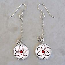 Atom Atomic Model Physics Science Nerd Math 925 Sterling Silver Earrings