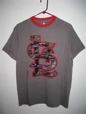 St. Louis Cardinals t shirt medium Big Camo logo gray heather NWT