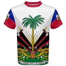 Haiti L'Union Fait La Force Coat Of Arms Flag Map Men's Sports Tee T-SHIRT HT1