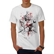 Wellcoda King Crown ART FASHION T-shirt homme, Golden design graphique imprimé Tee