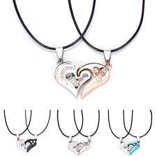 Men Women Lover Couple Necklace I Love You Heart Pendant Stainless Steel UK