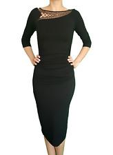 PARAH Damen Kleid Jerseykleid schwarz Gr. S - M