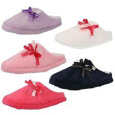 Donna Memory Foam Mule Pantofole Con Fiocchi