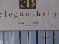 "elegant baby photo picture frame blue brown 4x6"" R$24.95 #10602 NIB"