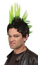 Punk Rocker Adult Wig Mohawk Spike Green Red Blue Style Hair