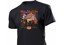 Shirt The American Way Babe Fighting Machine Pin-up Rockabilly Vintage Biker USA