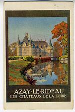 1910 French Adv Postcard Azay Le Rideau les Chateau