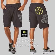 ZUMBA Men's Dancing Warrior Cargo Shorts EliteZWear - Functional & Fab M, L, XL