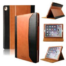 "Apple iPad Pro 9.7"" Magnetic Premium Real Genuine Leather Case Smart Folio Cover"