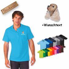 Poloshirt Polo Shirt bestickt Stickerei Hund Baumwolle Cocker Spaniel 1 + Name