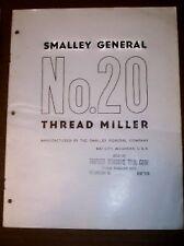 Vtg Smalley General Company Catalog~No 20 Thread Miller
