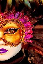 Wandsticker aufkleber deko : Maske Venedig - ref 1682 (16 größe)