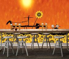 3D Sunflower Flower Wall Paper Murals Wall Print Decal Wall Deco AJ WALLPAPER