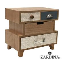 Elona - Mini Velveted 4 Drawer Wooden Jewellery Box / Storage Cabinet