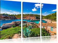 Casa Vacanze Alla Spanischen Costa 3-Teiler Quadro su Tel Decorazione Parete