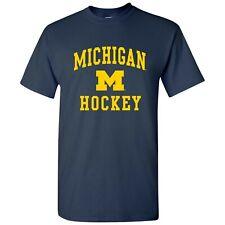 University of Michigan Wolverines Arch Logo Hockey T Shirt - Navy