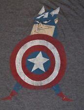 MARVEL T-Shirt Kawaii Captain America Avengers Superhero Men's Tee
