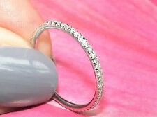 Diamond Wedding Ring 1.5mm Full Eternity Band 14K White Gold Micro Pave 0.40ctw