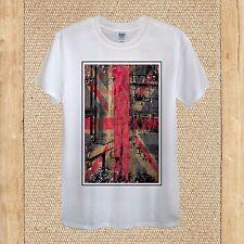 London Creative T-shirt Design England LDN Flag GB quality unisex women fitted