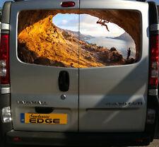 Rock Climbing 150cm Print Adesivo Decalcomania Van MONTAGNE MONTAGNA SCALATA CLIMBER