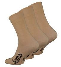 3-6 oder 9 Paar Herren Bambussocken Gesundheitsstrümpfe Bambus Komfortbund Beige