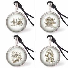 Vietguild's China Culture Symbols Necklace Pendants Pewter Silver