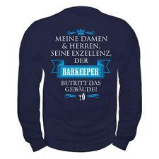 Pullover Seine Exzellenz DER BARKEEPER Sweatshirt Theke Cocktail Bar Geschenk