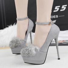 decolte scarpe invernali 15  stiletto grigio lacci simil pelle comode 9610
