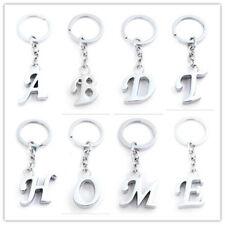Keyring Letter Initial Alphabet Key Ring Shiny Key Chain Keyfob Gift