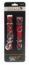 Nouveau réglable pet fashion tartan écossais royal stewart chien plomb collier set