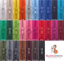 2m Reißverschluss endlos, Spirale 5mm + 6 Schieber/Zipper 27 Farben, Meterware