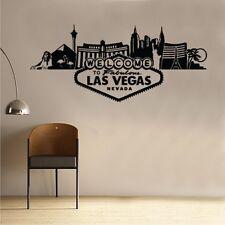 Wall Sticker Scenery Las Vegas Art World Country Silhouette (IN14)