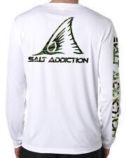 Salt Addiction microfiber Redfish fishing long sleeve life t shirt 50+ uv camo