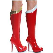 Womens Superhero Boots Adult Wonderwoman Costume Shoes
