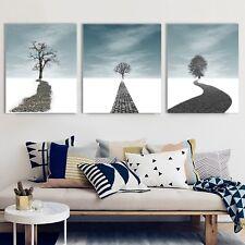 Framed Canvas Road to Dream Snow Single Tree Winter Home Decor Art