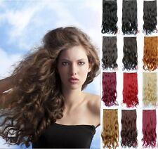 Haarverlängerung 50 cm Lang Clip-In gewellt Extensions Haarteil Haarverdichtung