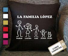 Cojin Familia Personalizado Familiar Regalo Amor Cumpleaños Aniversario