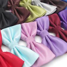 Men Women Bow tie Wedding Party borboleta Solid Color Bowtie Dress Shirt Gift
