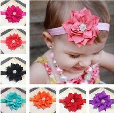 bandeau pour cheveux avec des fleurs strass bébé fille Parure élastique